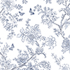 This item: Butterfly Toile Navy Blue Wallpaper