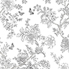 This item: Butterfly Toile Charcoal Wallpaper