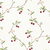This item: Cherry Trail Red and Green Wallpaper