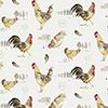 This item: Fresh Chicken Red, Yellow and Brown Wallpaper - SAMPLE SWATCH ONLY