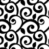 This item: Black and White Curling Leaf Wallpaper