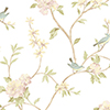 This item: Floral Bird Sidewall Pink, Yellow and Aqua Wallpaper