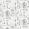This item: Cutlery Sidewall Black and Tan Wallpaper