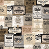 This item: Beige and Black Wine Labels Wallpaper - SAMPLE SWATCH ONLY