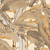 This item: Ochre Polynesian Leaves Wallpaper - SAMPLE SWATCH ONLY