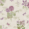 This item: Botany Floral Taupe and Purple Wallpaper - SAMPLE SWATCH ONLY