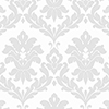 This item: Plaza Damask Grey and White Wallpaper - SAMPLE SWATCH ONLY