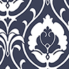 This item: Italian Damask Navy and White Wallpaper