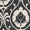 This item: Italian Damask Black and Taupe Wallpaper - SAMPLE SWATCH ONLY
