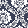 This item: Daisy Damask Navy and White Wallpaper