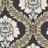 This item: Daisy Damask Black and Beige Wallpaper - SAMPLE SWATCH ONLY
