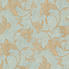 This item: Veneto Metallic Gold and Turquoise Leaf Scroll Wallpaper