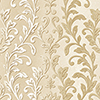 This item: Silver Leaf Damask Cream and Metallic Gold Wallpaper