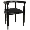 This item: Sorbonne Charcoal Black 24-Inch Occasional Chair