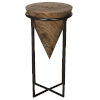 This item: Brown and Black Round End Table