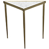 This item: Comet Triangle Large Stone, Metal and Brass Side Table