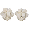 This item: Cube White Stone Puzzle Object- Set of 2