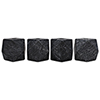 This item: Polyhedron Black Marble Decorative Candle Holder- Set of 4