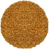 This item: Pelle Gold Leather Round: 4 Ft. Rug