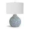 This item: Chevron Bone Indigo One-Light Table Lamp