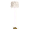 This item: Jasmine White and Natural Brass One-Light Floor Lamp