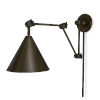 This item: Zig-Zag Task Sconce Oil Rubbed Bronze One-Light Swing Arm Wall Lamp