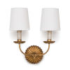 This item: Clove Antique Gold Leaf Two-Light Wall Sconce