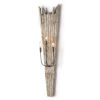 This item: Soleil Distressed Painted Three-Light Wall Sconce