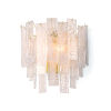 This item: Glacier Clear Three-Light Wall Sconce