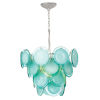 This item: Aqua and Polished Nickel Four-Light Chandelier