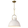 This item: Eloise White One-Light Pendant