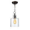 This item: Dutch Clear and Oil Rubbed Bronze One-Light Mini Pendant