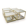 This item: Noel Natural Brass Coffee Table, Set Of 4