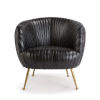This item: Beretta Ebony Leather Chair