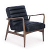 This item: Piper Antique Black Leather Chair