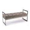 This item: Jolie Velvet Brown Bench