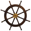 This item: KINDWER Rich Cherry 36-Inch Wooden Ships Wheel
