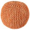 This item: Orange Two-Tone Cotton Rope Pouf