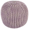 This item: Purple Two-Tone Cotton Rope Pouf