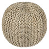 This item: 18-Inch Jute and Hemp Rope Pouf Ottoman