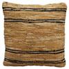 This item: Matador Tan and Black 18-Inch Leather Chindi Pillow