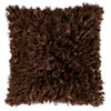 This item: Brown Shimmer Shag 18-Inch Pillow