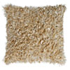 This item: Beige Shimmer Shag 18-Inch Pillow