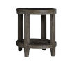 This item: Bravo Brown Oval End Table with Glass Top