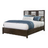 This item: Bravo Brown King Sized Wood Panel Bed