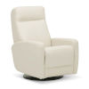 This item: Vernon Bisque Leather PVC Match Swivel Glider Chair