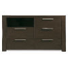 This item: Montreal Brown Media Chest