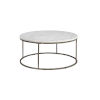 This item: Julien Round Coffee Table with White Marble Top