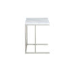 This item: Julien Chrome Base Chairside Table with White Marble Top