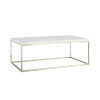 This item: Julien Chrome Base Rectangular Cocktail table with White Marble top.
